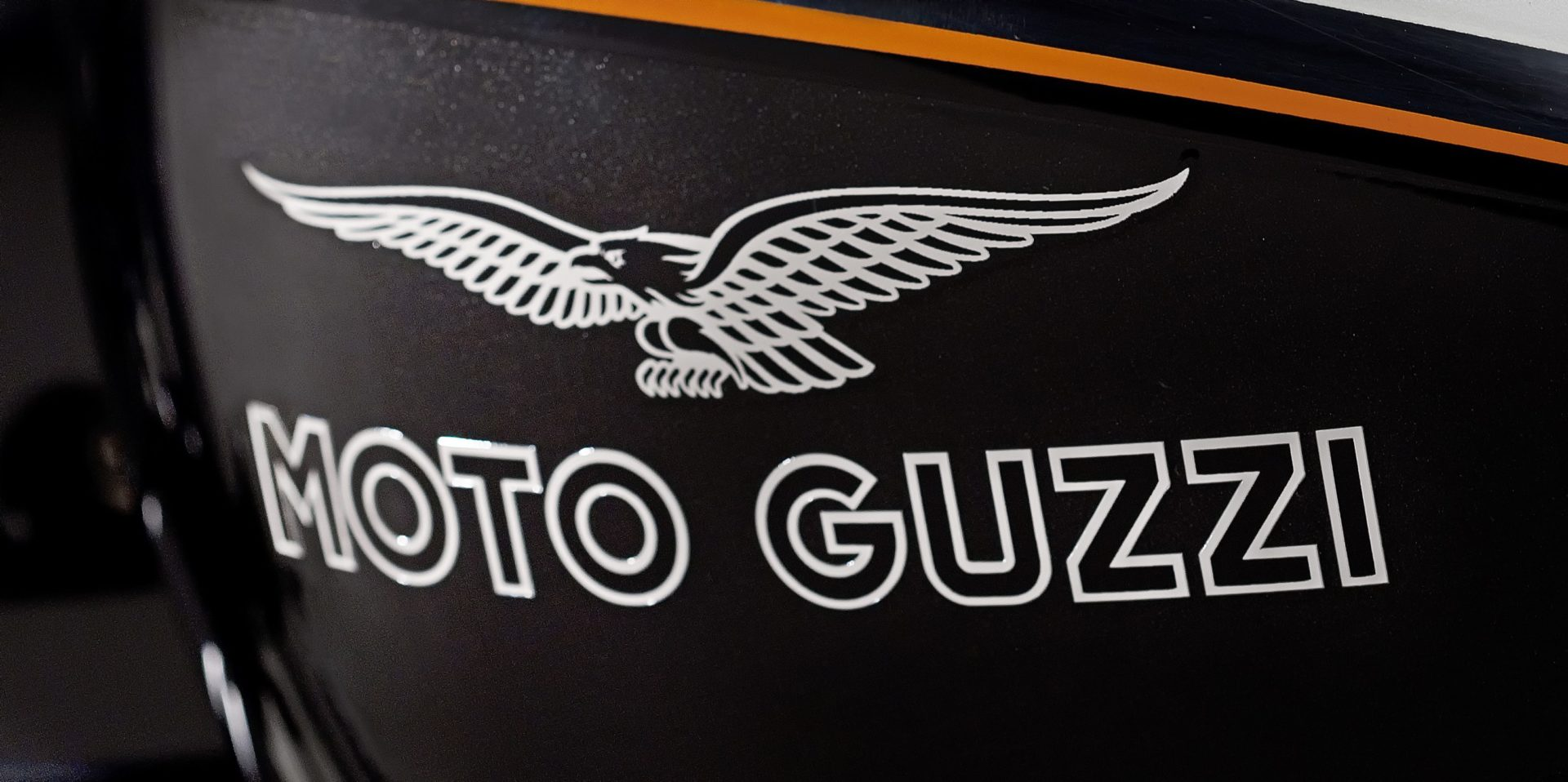 Soaring Golden Eagle Moto Guzzi motorcycle ...