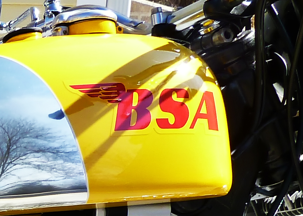 Motorcycle BSA logo